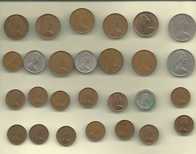 Great Britain 27 Coins Collection FREE USA SHIPPING