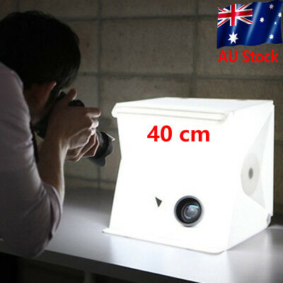 40cm Portable Folding Light Box Photography Studio Soft Box Light Kits AU FG