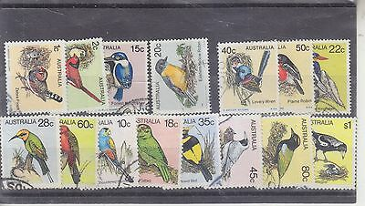 AUSTRALIA-1979/1980-3 X DEFINITIVE BIRD SETS-USED-$4.50 freepost
