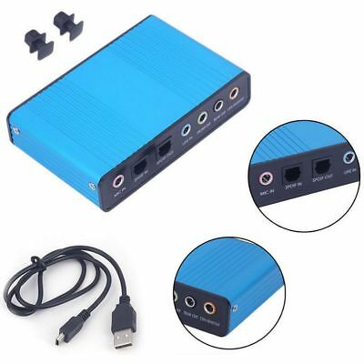 USB External Optical Audio 6 Channel 5.1 Sound Card Adapter Laptop PC Po New