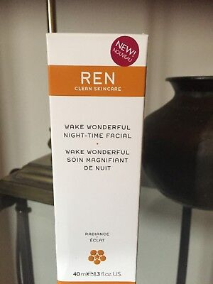Ren Wake Wonderful night-time facial treatment for all skin types 40ml RRP £32