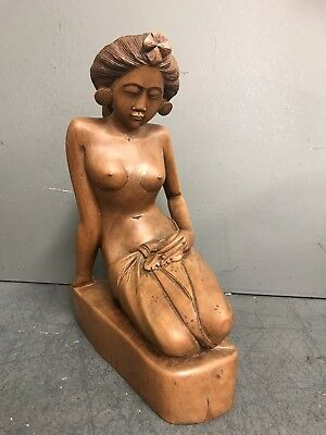 1940's  Balinese Hand Carved Sculptures  Signed A. Fatimah - Bali