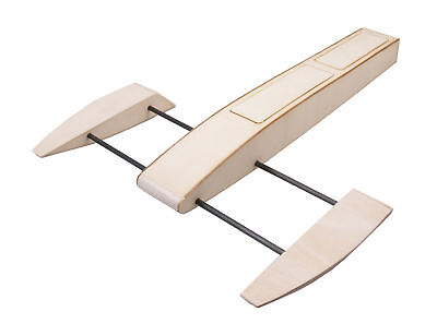 RC Outrigger Shrimp Boat Wooden 495mm Sponson Race Boat Kit to Build for Adult