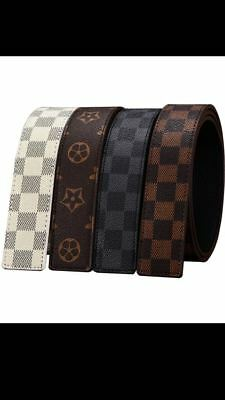 Mens Designer Belts For Men Replacement Leather Belt Only No Buckle Belt Only