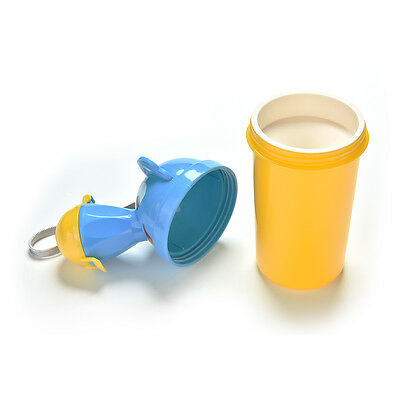 Baby Portable Urinal Travel Car Toilet Kids Vehicular Potty Yellow For Boy !!
