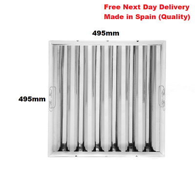 Canopy Grease Baffle Filter Stainless Steel Kitchen Extraction Filter 495x495x48