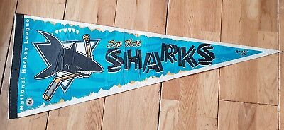 1990's San Jose Sharks Pennant NHL Ice Hockey (can bring to London or Reading)