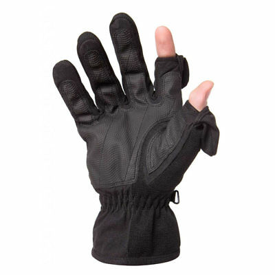 Freehands Mens Stretch Thinsulate Gloves (XX-Large, Black)