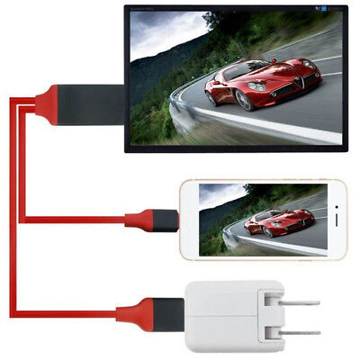 2M 1080P 8 Pin Connect To HDMI TV AV Adapter Cable for IPhone 6 6S 7 8 Plus X