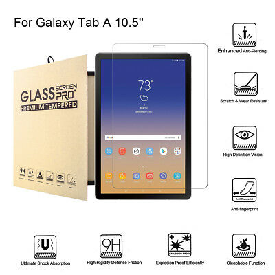 Fit Samsung Tab A T590 & T595 10.5 Tempered Glass Screen Protector  Anti-Scratch