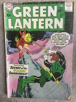 Green Lantern # 2  Secret of the Golden Thunderbolts !  scarce book !
