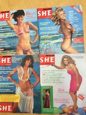 SHE MAGAZINE x 4 FASHION, STYLE  etc  1981