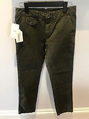 BNWT pantalone ARMANI JUNIOR SOTTOBOSCO military green trousers pants kids 12yr
