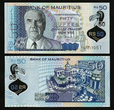 Mauritius 50 Rupees 2013 Unc P-65 Polymer