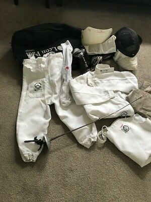 Complete Leon Paul Junior Fencing Kit: FITS AGE 8 TO 11 RRP 900+