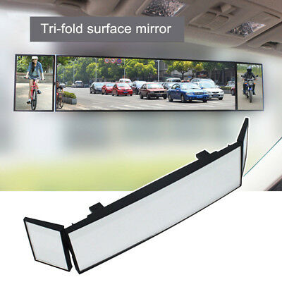 Large Wide Curve 386mm Car Panoramic Clip On Interior Rear View Mirror Oversize
