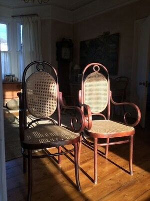Rare Pair Of Vintage Bentwood Chairs