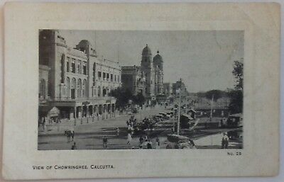 Calcutta India Vintage 5x Postcards by B & L T co, c1920, People, Vintage cars