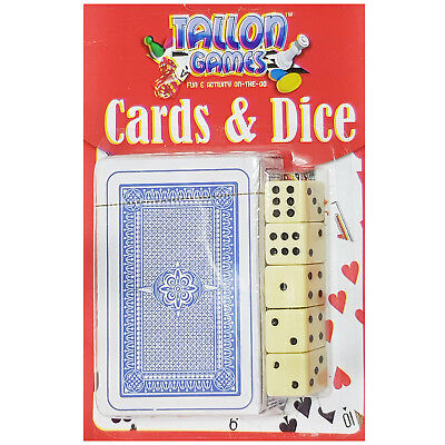 Card & Dice Set - 1 Deck of Cards & 5 Dice - Playing Card Pack - UK Stockist
