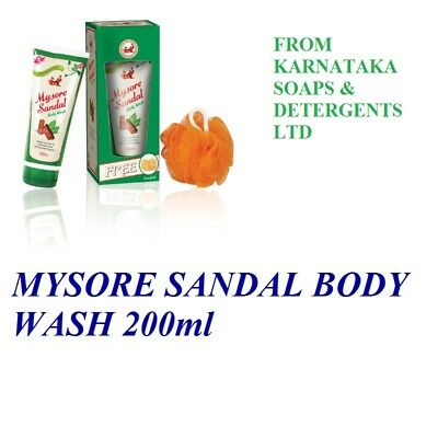 Mysore Sandal Shower Gel / Body Wash 200ml with Pure Sandalwood Oil