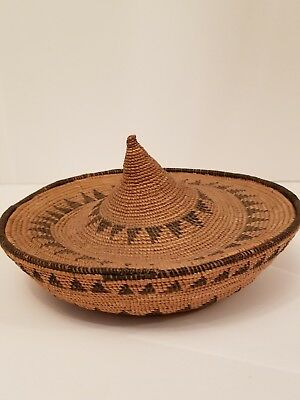 American Indian polychrome Basket