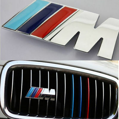 1 Ps M Tech Color Silver Vehicles Front Grill Badge Alloy Sports Emblems Decals