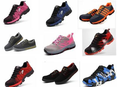 Womens Ladies Work Boots Lightweight Steel Toe Mens Cap Safety Shoes Trainers  A