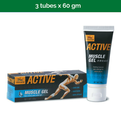 3x TIGER BALM Active Muscle Gel for post-sport cool down - 60g