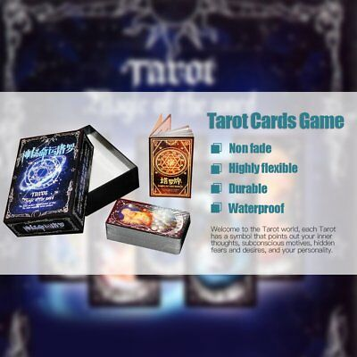 Tarot Cards Game Family Friends Outdoor Read Mythic Fate Divination Table S7