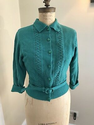 Vintage 40s 50s Green Sweater