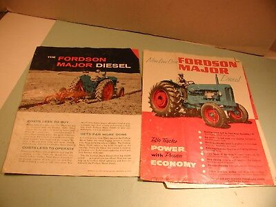 """Two 1956 """" THe Fordson Major Diesel """" Tractor Brochures"""