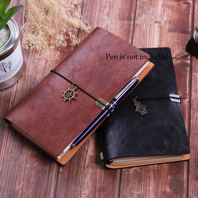 Bu Vintage Classic Red Leather Journal Notebook Diary Sketchbook Source · Retro PU Leather Cover Journals