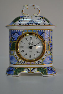 Reloj - Minton - Blue Mosaic - Bone China - 1995 - Porcelana