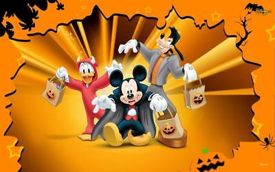disney halloween iron on transfer light or dark fabrics 5 x 7 size