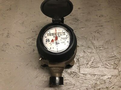 "Badger Model 25 Water Meter 5/8"" x 3/4"" US Gallon with Meter Couplings Lead Free"