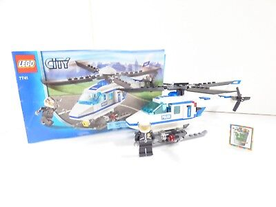 Lego City Police Helicopter 7741 100 Complete Pristine Condition