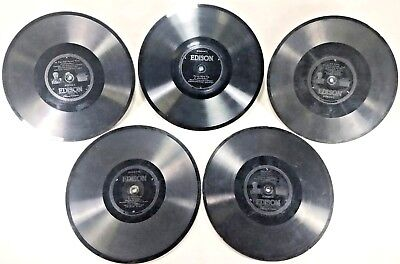 EDISON Diamond Disc Record Bundle Of 5 Antique Vintage Double Sided 100 year old