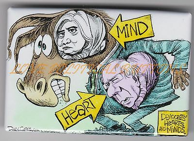 HILLARY CLINTON & BERNIE SANDERS HEARTS AND MINDS POLITICAL CARTOON by CAGLE