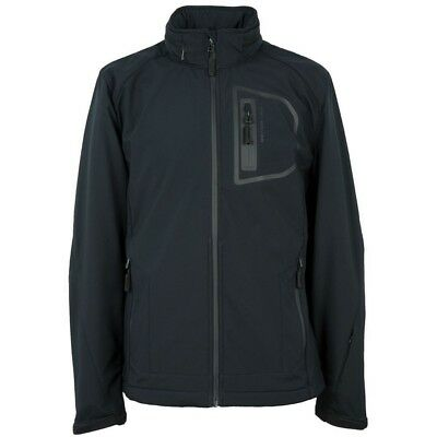 Official Land Rover Merchandise Men's Full Zip Softshell Jacket Navy