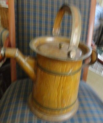 Antique Painted Tin Toleware Water Pitcher