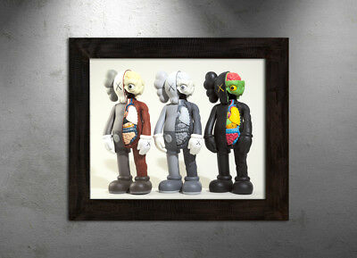 KAWS Companion Dissected colors print poster matte urban street Supreme dope