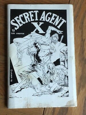 Secret Agent X - Tom Johnson - US hero pulp tribute magazine 1990 - updated edn.