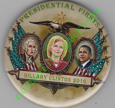 """Hillary Clinton 2016 """"presidential Firsts"""" Whoops!! Political Pin 3 Inch Button"""