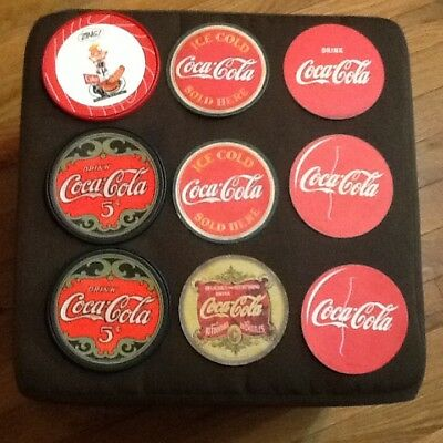 Coca Cola Beverage Coasters Coke lot of 9