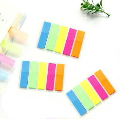75pcs Bookmark Sticky Note Mini Memo Rainbow Color Post Lable School Cute Index