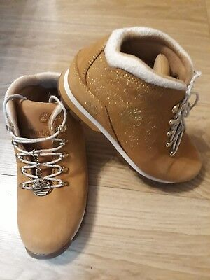 Brown Fold Boots Hitop P11 Napp Ankle Laced Leather Timberland Pink wA1qX