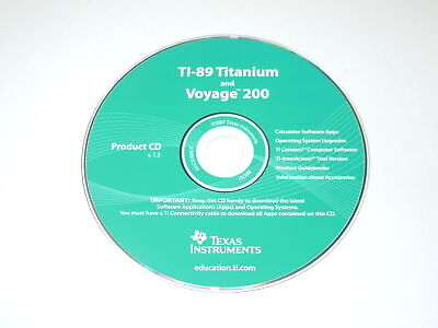 Texas Instruments TI-89 Titanium and Voyage 200 Product CD V1.5