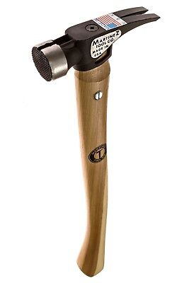 Martinez Tool 4000 19 oz Milled Face Steel Head Hammer with Curved Handle USA