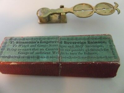 T. Simmons's Improved Sovereign BalanceAntique English brass Very Rare