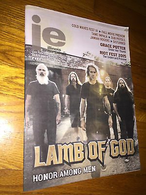 Illinois Entertainer Music Monthly Sept 2015_Lamb of God(Cover)